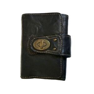 Black Wallet brass clasp